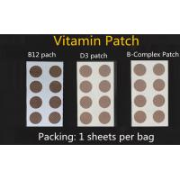 natural ingredients high quality vitamin B12 patch, vitamin energy patch, glutathione patch