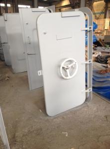 China White Coating Round Window Marine Watertight Door With Wheel Handle on sale
