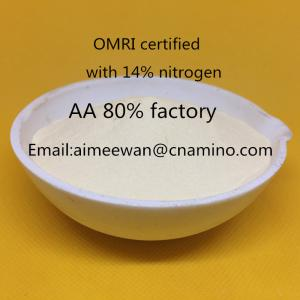 China Plant source factory supply compound amino acid 40%,52%,60%,70%,80%,100% solubility,no caking ,no salt on sale