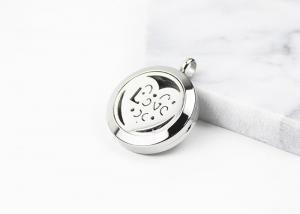 China 25MM Openwork Heart Essential Oil Jewelry Stainless Steel Aromatherapy Locket Pendant on sale