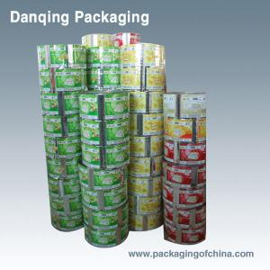 China Película laminada de empaquetado impresa del mismo tamaño de la película de rollo para el acondicionamiento de los alimentos on sale