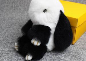 China Smooth Fluffy Handbag Charm 13-20cm , Dyed Colors Leather Tassel Bag Charm on sale