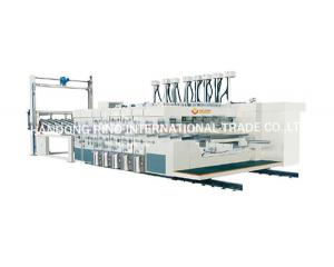 China Lead edge feeding flexo printer slotter die cutter with stacker on sale
