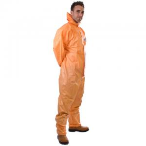 China Low Lint SMS Disposable Coveralls For Asbestos Removal/ Hospital / Clinics on sale