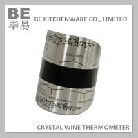 China Large Stainless Steel Crystal Wine Bottle Thermometer on sale