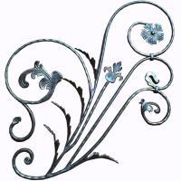 Wrought Iron Rosettes /  Steel Panel / Decorative Wrought iron flower