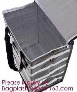 China Portable Waterproof Cartoon Flamingo Animal Print Foil Inside Thermal Insulation Cooler Lunch Box Bag bagease bagplastic on sale