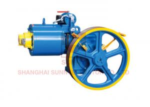 China Vvvf Drive Dc Gear Motor Engine Traction Unit For Lift / Elevator Parts on sale