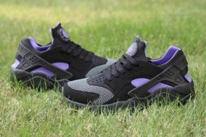 China Cheap Nike Air Huarache Black Purple free shipping on sale