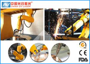 China Galvanized Steel Fiber Laser Cutting Machine with 6 Axis Robot Arm on sale