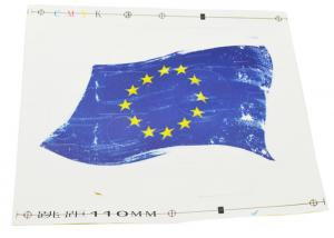 China Vinyl Action Camera Housing Decal Skin Sticker EU Flag for GoPro Hero 4 on sale