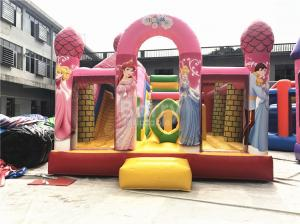 China Big Pink Princess Inflatable Bouncer , Professional Commercial Bounce House on sale
