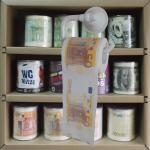 money printed toilet paper 3 layer 200 sheets 100% wood virgin pulp novelty toilet roll