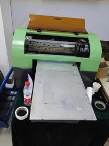 China Digital Flatbed Screen Full Color A3 LED UV Printer for Bamboo / Billboards / Foam on sale