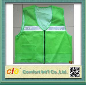 China High Visibility Protective Clothing Reflective Safety Jackets , Custom Safety Vests on sale