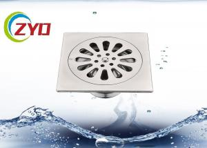 China Stainless Steel Shower Drain Square, Millor Polished Shower Drain Grate on sale