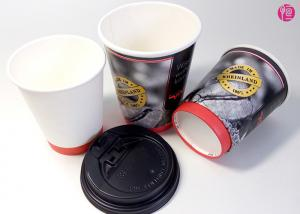 China 12oz Hot Drink Double Wall Paper Coffee Cups , Ivory Board Paper on sale
