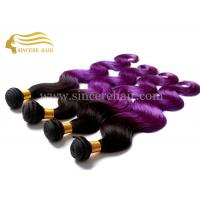 China Hot Sell 55 CM Body Wave Purple Ombre Hair Extensions Weaving Weft for Sale on sale