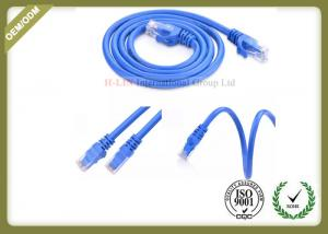 China Blue Color Cat6 Network Patch Cord 24AWG With RJ45 Plug Connector on sale