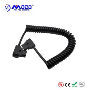 China Coiled D Tap To D Tap Power Cable , Pre Made Cable Assemblies Eco Friendly on sale