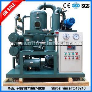 China Double machine montée par dérapage d'épurateur d'huile de transformateur de vide d'étape pour la centrale on sale