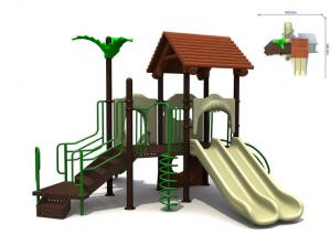 China Metal Steel Childrens Tree House Playground Play Equipment on sale