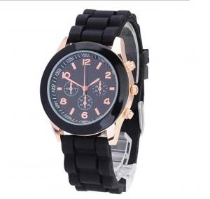 China Water Resistant Womens Quartz Watches , Geneva Silicone Watch on sale