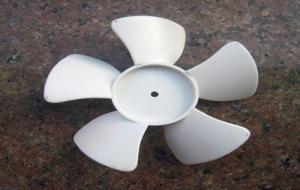 China Plastic Fan Blade CNC Rapid Prototype For Colorful ABS Fan Part on sale