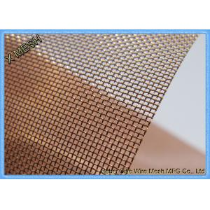 Quality Pure Copper Metal Wire Mesh Sheets Square Hole Bending Selvage For Shielding for sale