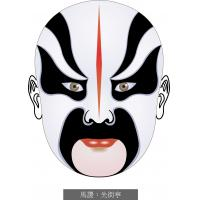 Vector art convert into embroidery design Face book Beijing Opera Facial Masks Maji Shijie