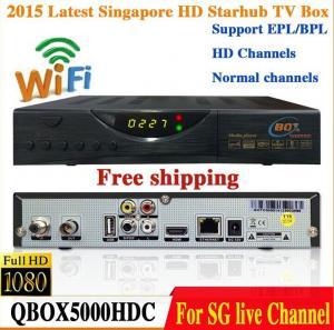 China 2015 Latest Singapore Starhub HD Cable TV Receiver QBOX 5000HDC Set Top Box Upgraded From QBOX HDC 4000 blackbox wifi on sale