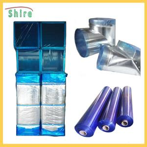 China Customized Printable Transparent Blue HVAC Duct Protection Tape Duct Protection Film Blue on sale