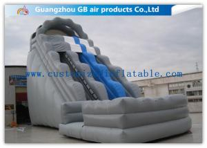 China Kids / Adults Double Inflatable Water Slide With Small Pool For Summer Games on sale