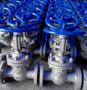 China Carbon Steel Material Sluice Valve with RF Flanged Connection Manual on sale