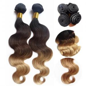 China Top Quality 10inch to 30 inch 100% Human Hair  Ombre Body Wave Hair Weave on sale