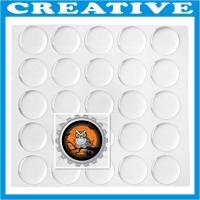 China 1 Clear Round Epoxy Sticker on sale