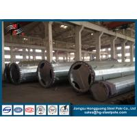 Electric Hot Dip Galvanized Steel Power Poles For Power Transmission Line With Bitumen