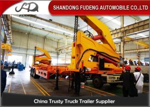 China 40FT Diesel Engine Side Loader Trailer Mechanical Ladder Hydraulic Side Loader on sale