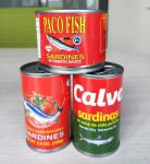 Canned sardine fish in chili in tomato sauce/canned sardine in fish in oil/ocean secret