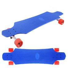 China Wholesale 36 inch complete plastic longboard skate board with PU wheels on sale