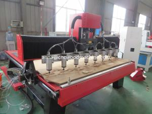 China multi head cnc wood carving machine GK-1820D-8 / Cnc router multi head on sale