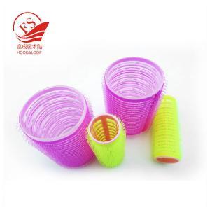 China Pink Magic Hair Hook Loop Rollers , Durable PVC / Foam Beauty Hair Clip on sale