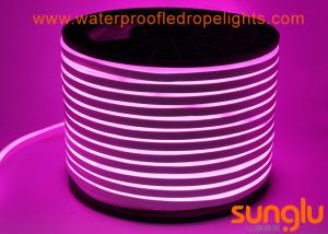 China 2835 120LED / M LED NEON Rope Light DC 12V LED Pink Strip Lights For Swimming Pool on sale