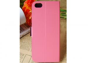 China PU / TPU Red iPhone 5s Cell Phone Cases , iPhone 5s Brushed Leather Phone Case on sale