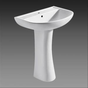 China A32008 Single Hole Bathroom Ceramic / porcelain pedestal hand wash basin stainless steel on sale