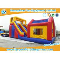 Durable Commercial Inflatable Slide With House / Outdoor Inflatable Kids Slide With Professional Design