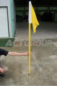 China Soccer Corner Flags Hand Sewing , Custom Soccer Field Football Corner Flags on sale