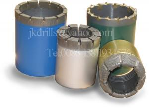 China Surface Set Diamond Core Drilling Bits For Drilling Relatively Complete Strata on sale