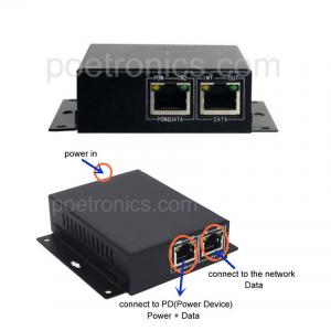 China POE-IJ801 Gigabit 30W POE Injector_IEEE802.3at External 60W Power on sale