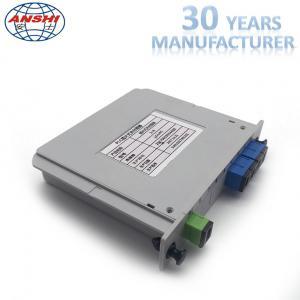China Fiber Optic 1x4 SC / UPC Insert Type PLC Splitter Casette Type Mini Box on sale